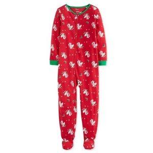 Carter's Christmas Unicorn Fleece Footie Pajama